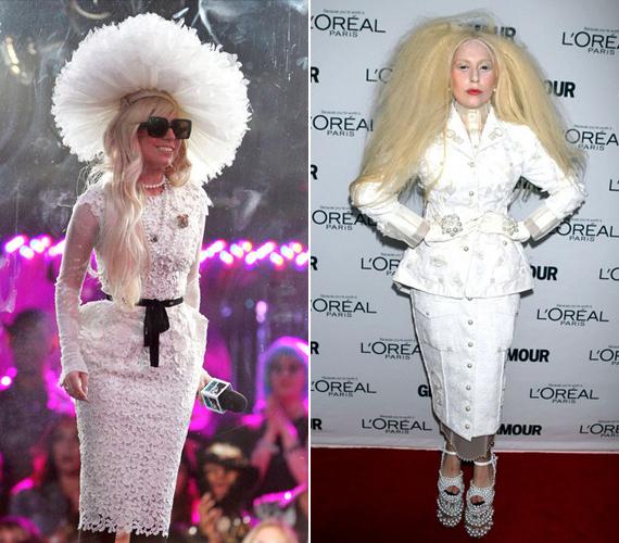 A bal oldali Tom Ford csipkeruhát 2011-ben viselte videoklipje MTV-s premierjének alkalmából. A jobb oldali kép a 2013-as Glamour-gálán készült, ahol őt is jelölték az év nője díjra.