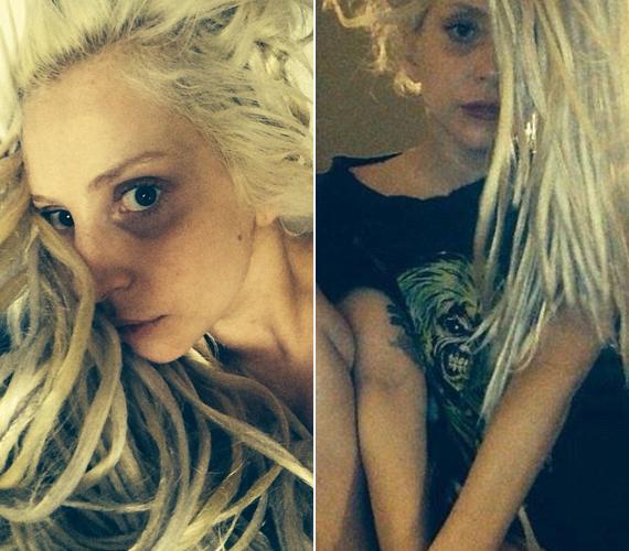 Lady Gaga haja kezd rasztásodni, smink nélkül pedig alig lehet felismerni az énekesnőt.
