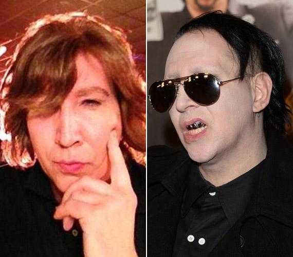 A kilónyi festék nélkül Marilyn Mansont is nehéz megismerni.