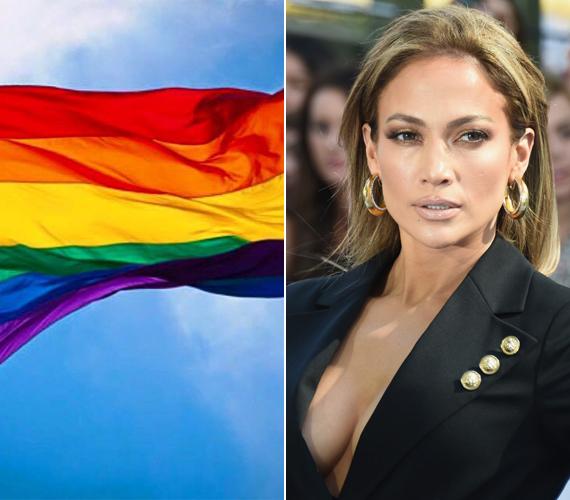 Jennifer Lopez a bal oldalon látható zászlót osztotta meg és csak annyit fűzött hozzá: a szeretet győz. Állítólagos rajongói már ezért is ízekre szedték.