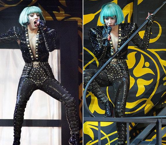 GaGa szegecses dominaszerelése nagy sikert aratott, de az énekesnő előadására sem volt panasz.