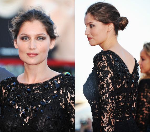 A Dolce&Gabbana ruha csipkéit csillogó fekete kövek dobták még jobban fel.
