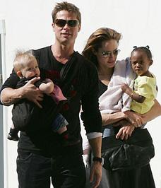 Brad Pitt és családja