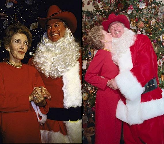 Larry Hagman 1985-ben tette tiszteletét a Fehér Házban, ahol Nancy Reagan óriási szeretettel fogadta J. R. Ewing egykori megformálóját.