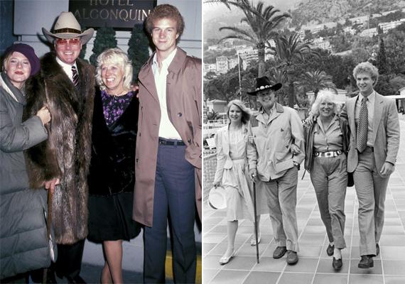 Amikor még együtt volt a család: Larry Hagman, a felesége, Maj Axelsson és a gyermekeik Heidi, valamint Preston.