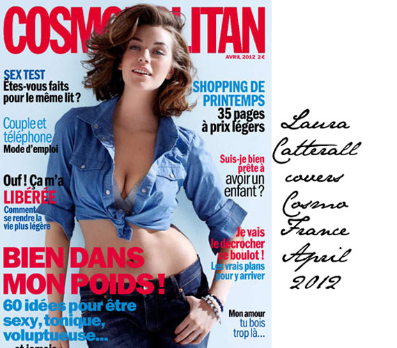 A gyönyörű Laura Catterall a francia Cosmopolitan 2012. áprilisi számának címlapján.