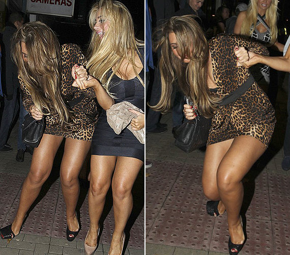 A magassarkú cipőjében kibicsaklott a lába a színésznőnek, aki elesett az utcán egy londoni szórakozóhely előtt.