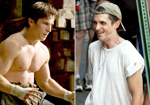 Christian Bale A gépész című thriller miatt közel 30 kilótól szabadult meg, amit aztán a Batman-filmek alatt izom formájában szedett vissza magára.