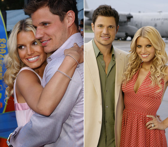 Jessica Simpson 22 éves volt 2003-ban, amikor hozzáment Nick Lachey énekeshez. Hollywood egyik legszebb párjaként tartották őket számon, három év alatt azonban véget ért a szerelem. Jessica most Eric Johnson párja, idén májusban született meg első kislányuk, Maxwell.