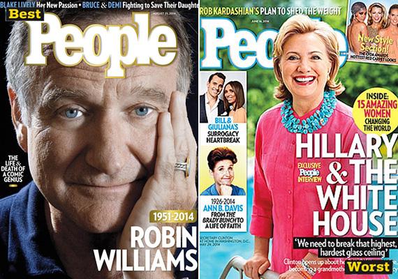 A People olvasóit a legjobban Robin Williams halála érdekelte, az augusztus 21-i számból több mint egymillió példány kelt el. Ellenben a nyári uborkaszezonra Hillary Clintont választani a címlapra rossz ötletnek bizonyult, csak 500 ezer darab magazint vettek június közepén.