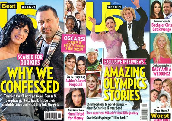 A US Weekly a Real Housewives of New Jersey egyik szereplőjével produkálta a legnagyobb, félmilliós példányszámot, bizonyítva, hogy van olyan reality, ami érdekli az embereket. A szocsi olimpia sztárjai, bármennyire is próbálták őket izgalmas címmel eladni, csak kicsivel több mint 300 ezer olvasót vonzottak.