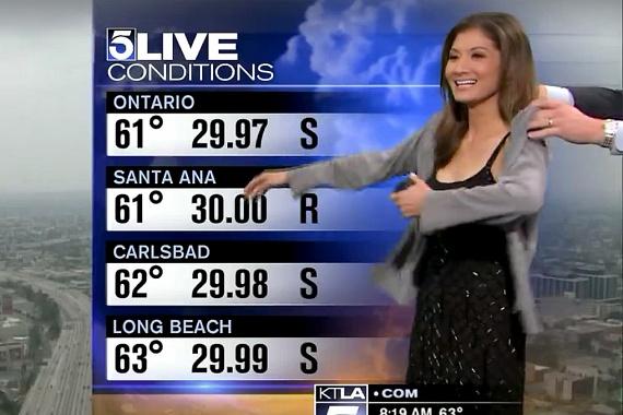 Liberté Chant, a Los Angeles-i KTLA 5 csatorna csinos meteorológusát élő adásban öltöztették fel, mert sokan túl kihívónak találták a ruháját. Ezzel még nagyobb bajt okoztak: azok után, hogy nyilvánosan megalázták az időjóst, a nézők szexistának bélyegezték meg az adót.