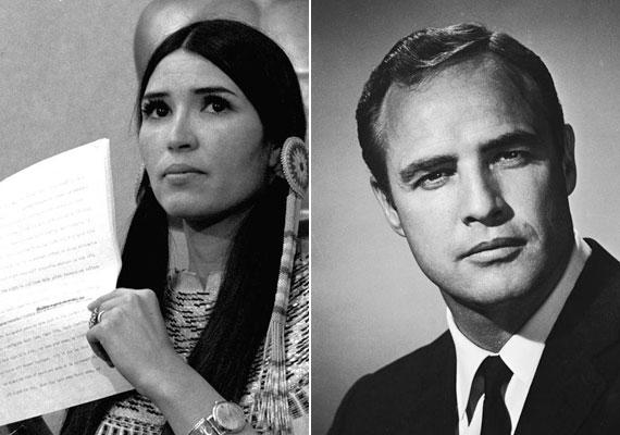 Marlon Brando volt, aki 1973-ban megkapta a legjobb férfi főszereplőnek járó díjat Vito Corleone megformálásáért A Keresztapában, ám az aranyszobrot mégsem vette át. Maga helyett a gálára egy bennszülött aktivistát küldött. A színész azért mondott le a szoborról, és küldte maga helyett az apacs ruhába öltözött indiánt, mert véleménye szerint az amerikaiak lenézték, megalázták és gyakran bántalmazták az őslakosokat.