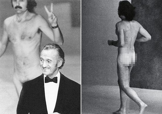"""Az Oscar-díjátadók talán legemlékezetesebb pillanatai közé az az 1974-es esemény számít, amikor a gála házigazdája, David Niven mögött egy békejelet mutató pucér férfi futott át a színpadon. A műsorvezető rögtön vette a lapot: """"Hát nem csodálatos belegondolni, hogy valószínűleg az egyetlen dolog, amivel ez a férfi mosolyt fakaszt, ha levetkőzik, és feltárja a hiányosságait?"""" - tette fel a kérdést."""