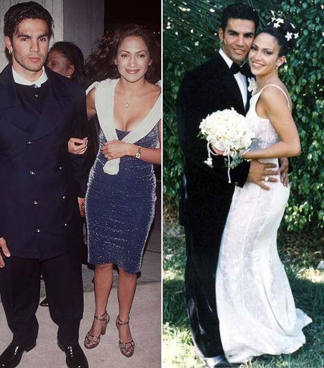 Jennifer Lopez és Ojani Noa  Jennifer Lopez énekesnő ujjára is többször húztak gyűrűt. Először 1997 február 22-én ment hozzzá a kubai pincérhez, Ojani Noához. A következő év januárjában már el is váltak.  Kapcsolódó cikk: Szerinted melyikben volt a legszexibb? Képeken Jennifer Lopez merész ruhái »