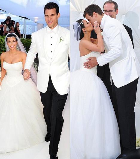 Kim Kardashian és Kris Humphries  Egy nagyszabású, állítólag tízmillió dolláros költségvetéssel készült tévéshow keretében fogadott egymásnak örök hűséget a valóságshow-sztár Kim Kardashian és a kosaras Kris Humphries. A tündérmese azonban csak 72 napig tartott, 2011 októberének végén Kardashian benyújtotta a válási papírokat.