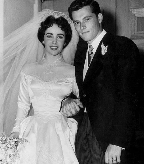 Elisabeth Taylor és Conrad Hilton  Elizabeth Taylor élete folyamán kilencszer mondta ki a boldogító igent, köztük kétszer ugyanannak a férfinak. Legelső házassága hamar csődbe ment. Conrad Hiltonnal, a milliárdos örökössel kilenc hónapig voltak házasok.   Kapcsolódó cikk: A BBC is megerősítette! 79 éves korában elhunyt Elizabeth Taylor »