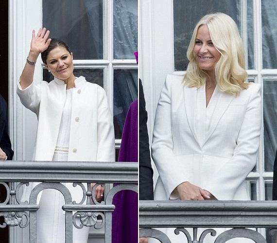 Viktória svéd hercegnő és Mette Marit norvég hercegnő egyaránt a hófehér mellett tette le a voksát.