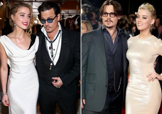 A korosodó, de még mindig formában lévő szívtipró és majdhogynem feleannyi idős szőke felesége megtestesítik a hollywoodi klisét, de ettől még jó rájuk nézni. Johnny Depp és Amber Heard egy forgatáson jöttek össze, és nem sokkal később összeházasodtak.