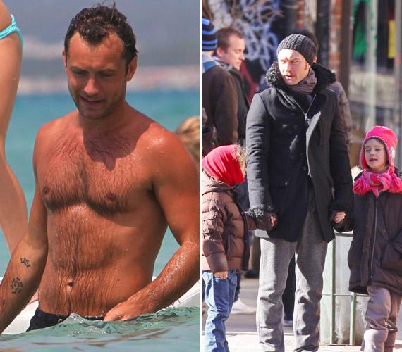 A 39 éves Jude Law-nak három gyermeke született volt feleségétől, Sadie Frost színésznőtől, majd egy futó kapcsolatból a negyedik, aki a Sophia nevet kapta.