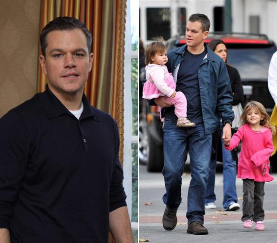 A 41 éves Matt Damonnak három közös kislánya van feleségével, Luciana Bozan Barrosóval.