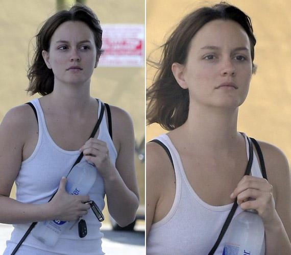 A színésznőnek smink nélkül is gyönyörű bőre van.