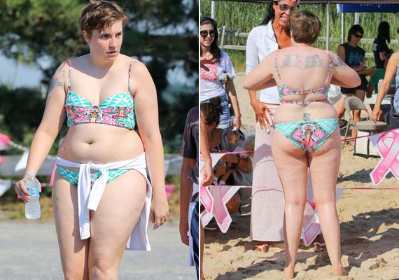 Egy kommentelőjének még válaszolt is. Egy nő arra kérte, hogy legyen kedves egyrészes fürdőruhába bújni, mert egy ilyen testre senki nem kíváncsi. Lena közölte, hogy nyáron meleg van, akinek meg nem tetszik a teste, az ne nézzen rá.