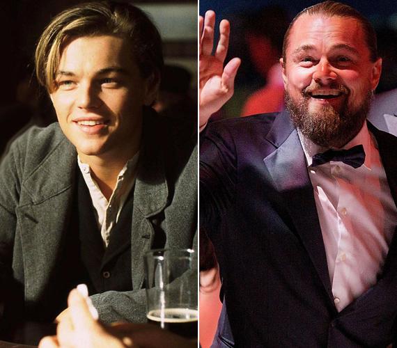 Leonardo DiCaprióra 1997-ben figyelt fel a világ, amikor Kate Winslet oldalán eljátszotta a Titanic katasztrófájában életét vesztő Jack Dawsont. A bal oldali kép akkor, csaknem 20 éve készült, a jobb oldali pedig tegnap este.