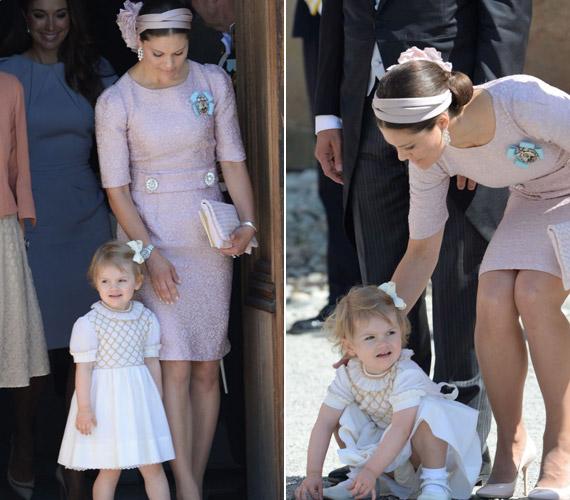 Viktória hercegnő lánya,Estelle elszórakoztatta magát a szertartáson.