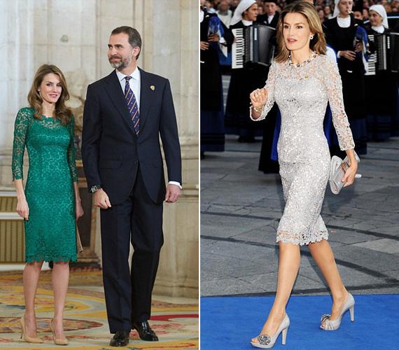 2010 augusztusában láthatta a világ Letíciát a zöld csipkés Felipe Varela ruhában, annak apropóján, hogy férjével megjelentek az Olimpiai Bizottság értékelésén. 2008-ban pedig a szokásos évi Asztúria-díjátadón tette tiszteletét az ezüst csipkeruhában.