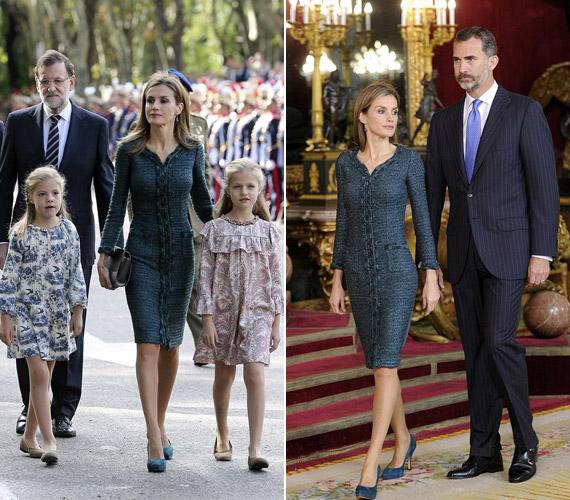 A hétvégén Spanyolországban egy nemzeti ünnepségen is megjelent a királyi család.
