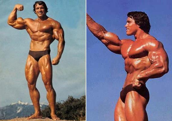 Arnold Schwarzenegger testépítőként kezdte a pályafutását, így a munkaköri leírásába beletartozott a fecskében való pózolás.