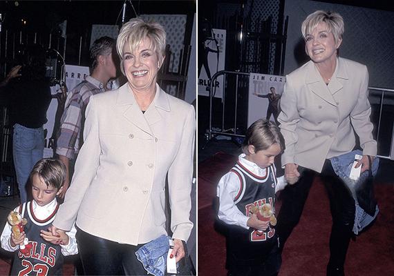 Ez a fotó az 1997-es Hanta Boy című mozi premierjén készült az akkor még hatéves Ryderről és Lindáról.