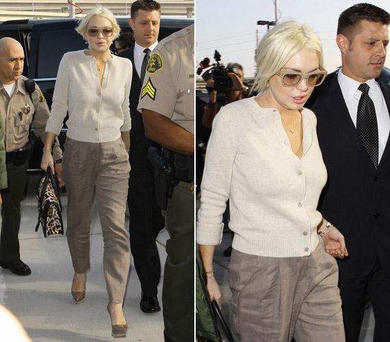 Lindsay Lohan mindenkit meglepett, amikor felpuffadt arccal jelent meg a bíróságon.