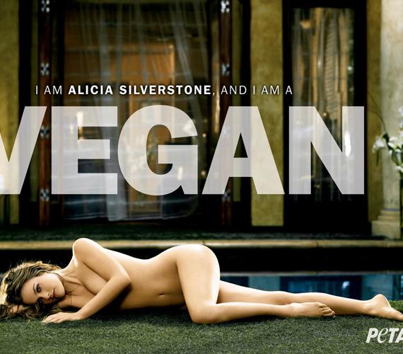Alicia Silverstone, a szintén vegetáriánus színésznő is megvált minden ruhadarabjától.