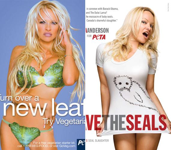 A szőke színésznő több alkalommal is modellt állt a PETA kampányaihoz.