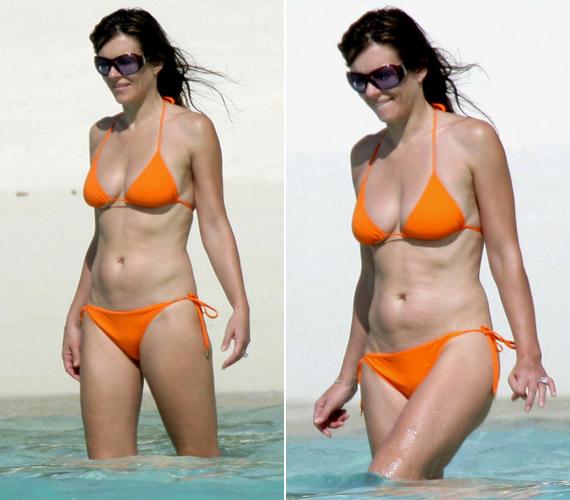 A színésznőt még 2007-ben kapták lencsevégre a lesifotósok strandolás közben. Igaz, ezeken a képeken is remekül néz ki a korához képest, azonban a retusált fotók és a valóság közötti ordító különbség felett lehetetlen átsiklani.