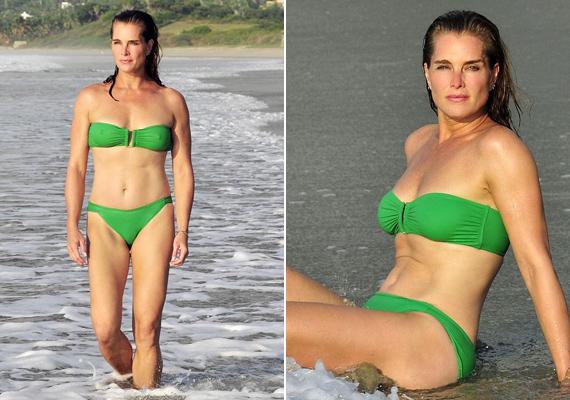 Brooke Shields smaragdzöld bikiniben kápráztatta el a strandolókat Mexikóban. Ki hinné, hogy már 50 éves?