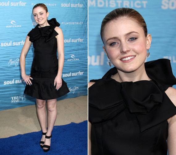 A 2011-es Soul Surfer premierjén. A filmben a főszereplő legjobb barátnőjét alakítja.