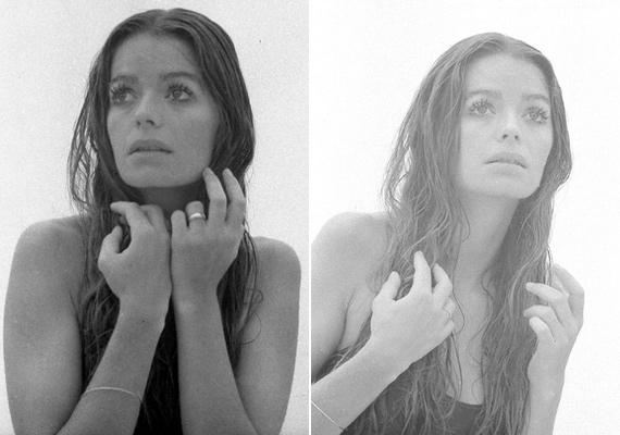 Művészi fekete-fehér fotósorozaton is szerepelt, ezek az egyik leghíresebb fotók a modellről.