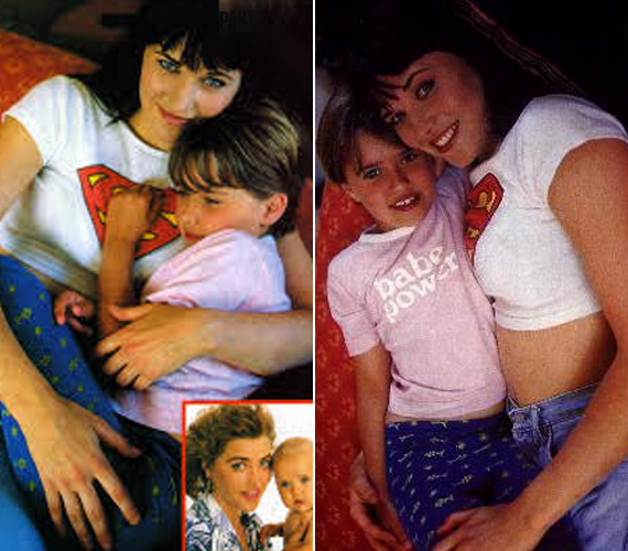 Íme Daisy és Lucy a kilencvenes években egy magazin oldalain. Már akkor is látszott, hogy nagy az összhang közöttük.