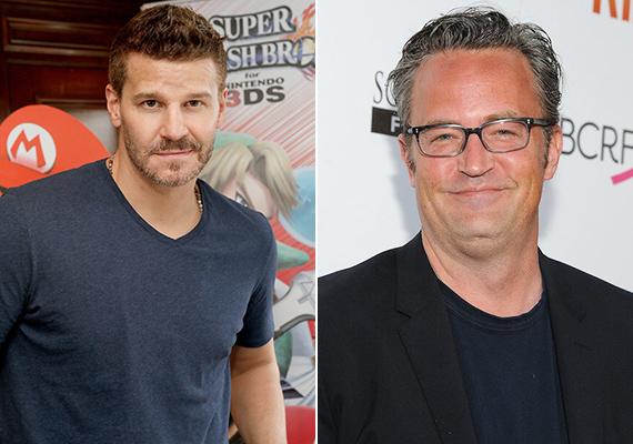 Gondolnád, hogy David Boreanaz és Matthew Perry is 1969-ben születtek? Booth ügynök megformálója 46 évesen is elképesztően sármos, ellenben a Jóbarátok Chandlerje fölött eljárt az idő. Persze ehhez annak is köze lehet, hogy a színész sokáig alkoholfüggő volt, és a drogokkal is meggyűlt a baja.