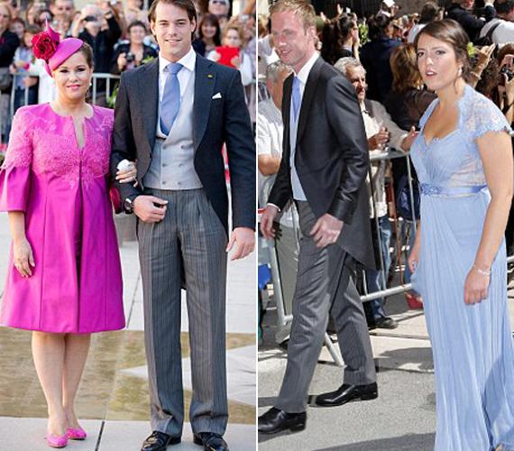 Félix édesanyja fukszia kabátban jelent meg, míg testvére egy kék Jenny Packham ruhában, olyanban, amit Katalin hercegnő is viselt 2012-ben.