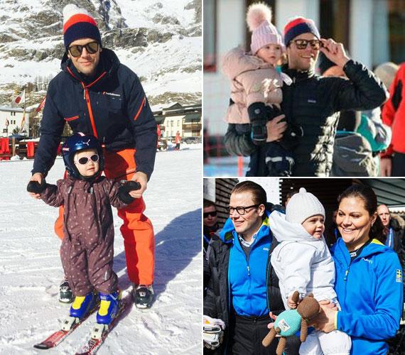 Kétéves kis unokahúgáról, Estelle hercegnőről is szívesen oszt meg fotókat, akit édesapja idén télen már síelni tanított.