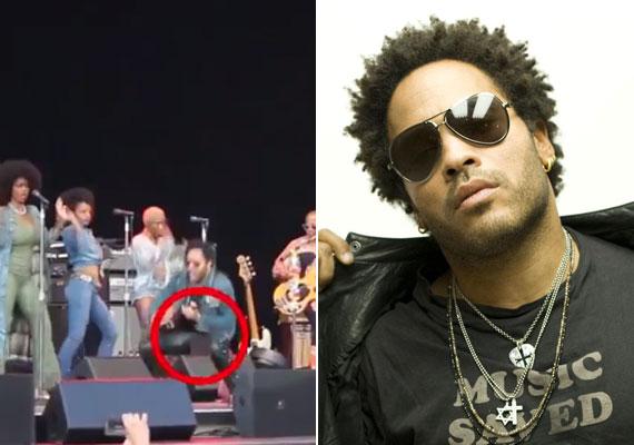 Talán a legnagyobb vicces baki Lenny Kravitz-cel történt, ugyanis egy nem várt terpesztésnél szűk bőrnadrágja olyat repedt, hogy a rajongók az első sorból láthatták férfiasságát.
