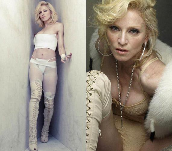 Madonnának minden igyekezete ellenére nem igazán sikerült olyan dögösnek mutatnia magát, mint fénykorában volt.