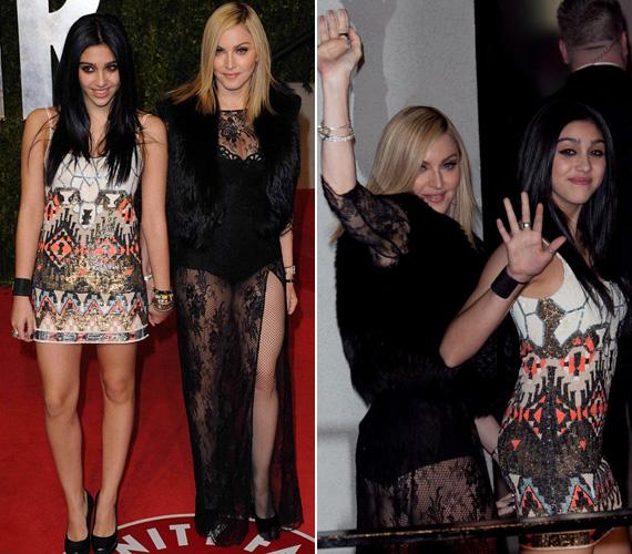 Nehéz eldönteni, hogy a Vanity Fair partiján Madonnára vagy a lányára voltak-e kíváncsibbak a fotósok.