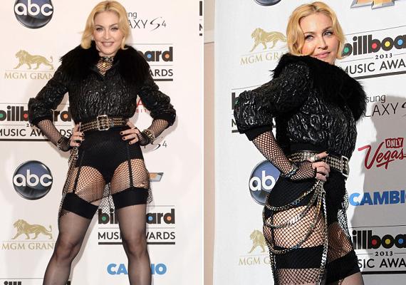 Bár egy időben már-már visszafogottnak volt mondható a stílusa, a 2013-as Billboard-gálán megint egy nem sokat takaró szettben jelent meg.