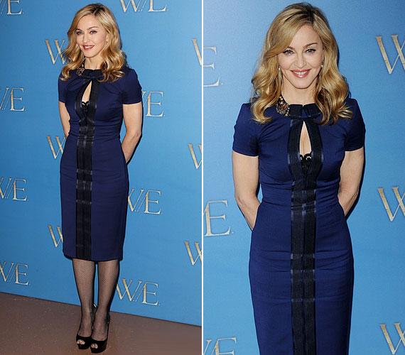 Pedig tud csinos is lenni: ebben a kék ruhában szexi volt, de nem közönséges.