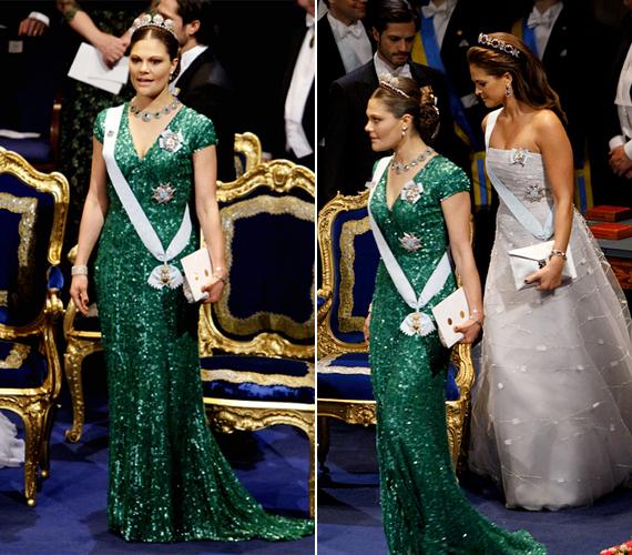 A trónörökös, Viktória is kitett magáért, csillogó, zöld ruhája kiemelte hercegnői alakját.
